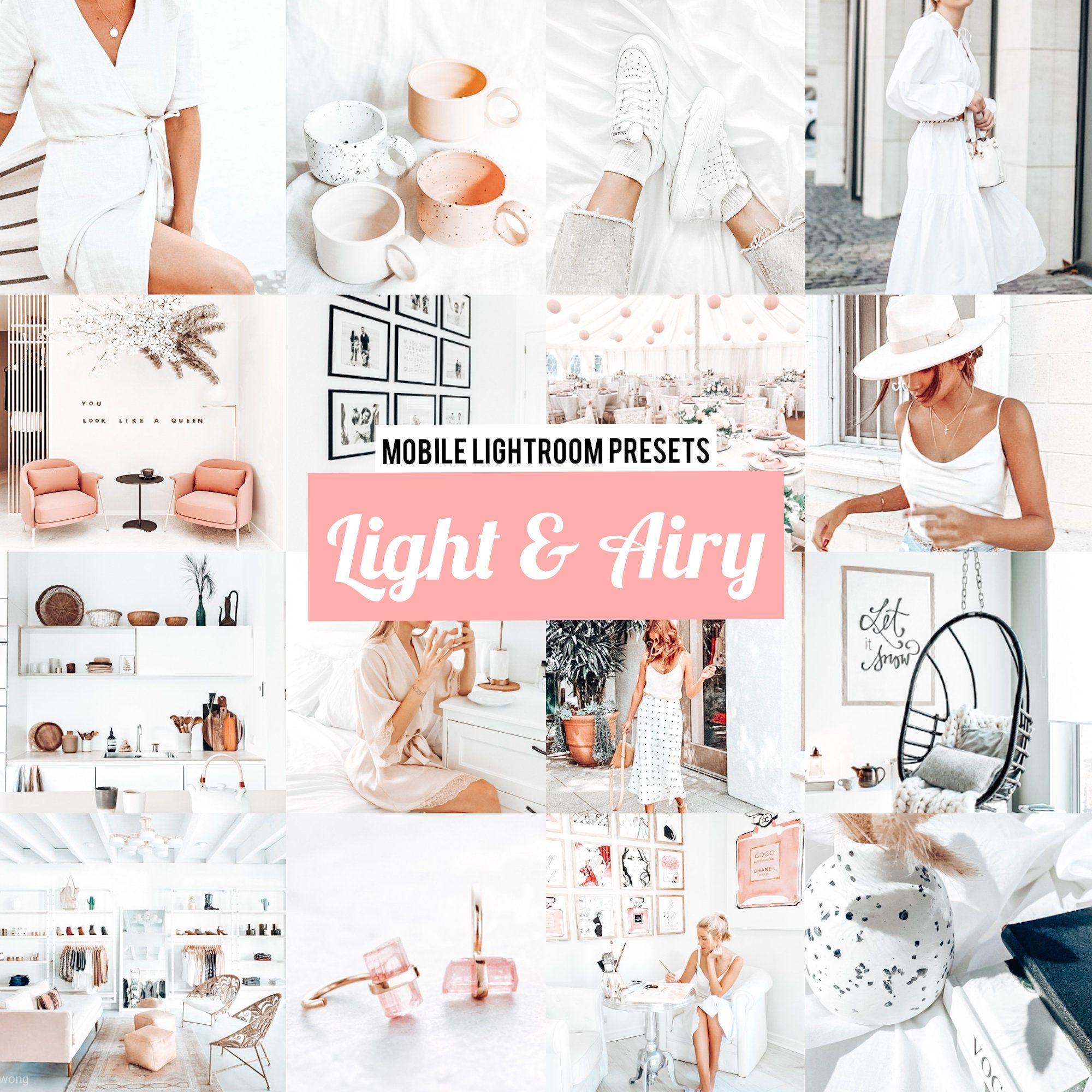 5 Mobile Lightroom Presets LIGHT & AIRY, Mobile Presets