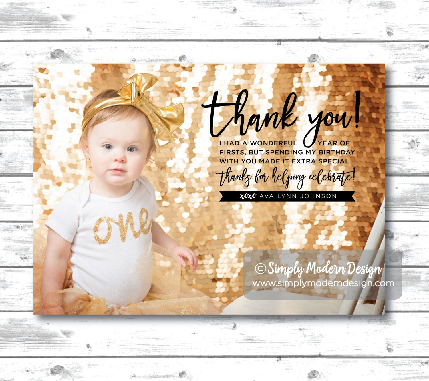 kids birthday thank you card bridal shower thank you wedding