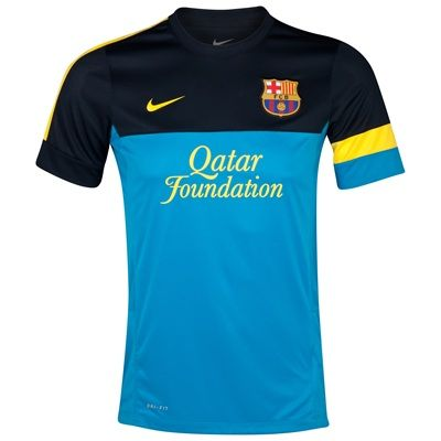 Camiseta de Entranamiento FC Barcelona - azul dinámico y marino ... 0c614c8151dda