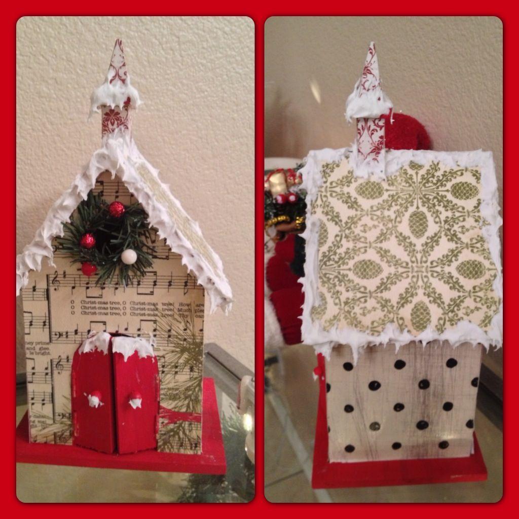 Christmas Birdhouses Crafts.Christmas Birdhouse Christmas Birdhouses Christmas