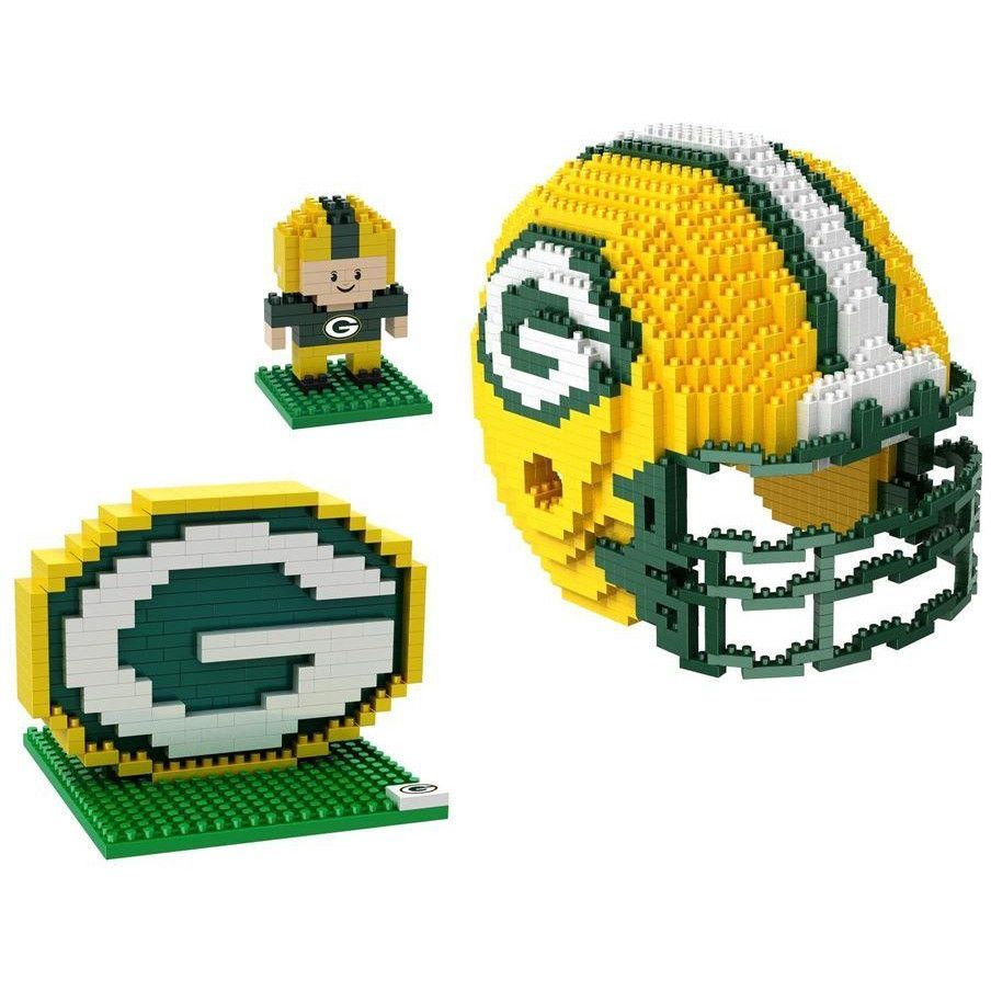 076c9e48269 Green Bay Packers NFL 3D BRXLZ Puzzle Collector s Set