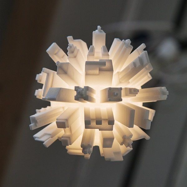 3D Printed LED Light Bulbs Topped with a Cityscape_LEDinside, a leading platform for LED, LED Lighting and LED Market Research
