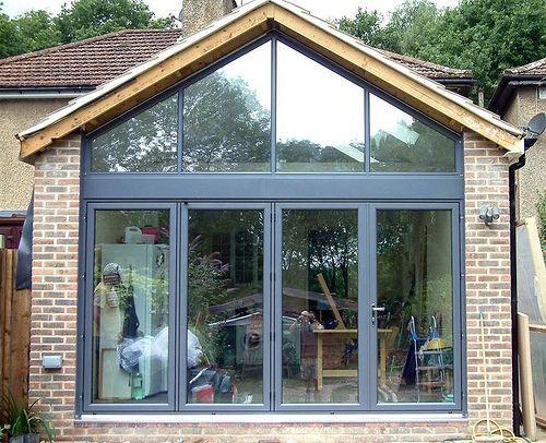 Folding Patio Doors Kitchen Extension House Extension Design Gable Window