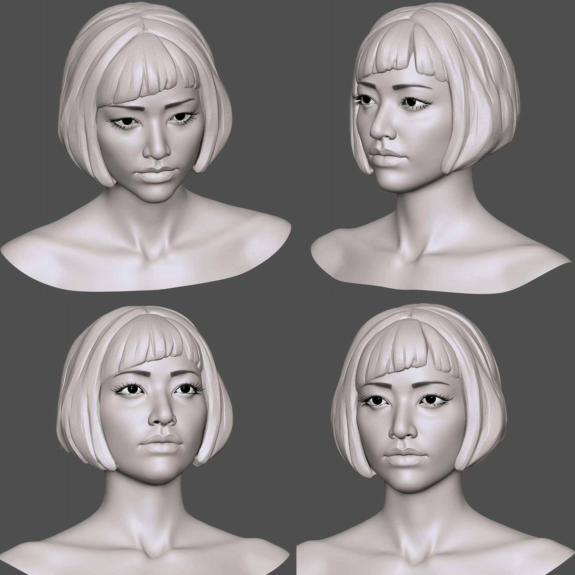 3D Asian Girl pinterest