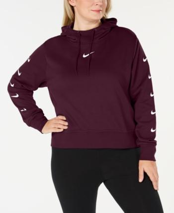 04372fa38f4 Nike Plus Size Sportswear Fleece Logo Hoodie in 2019
