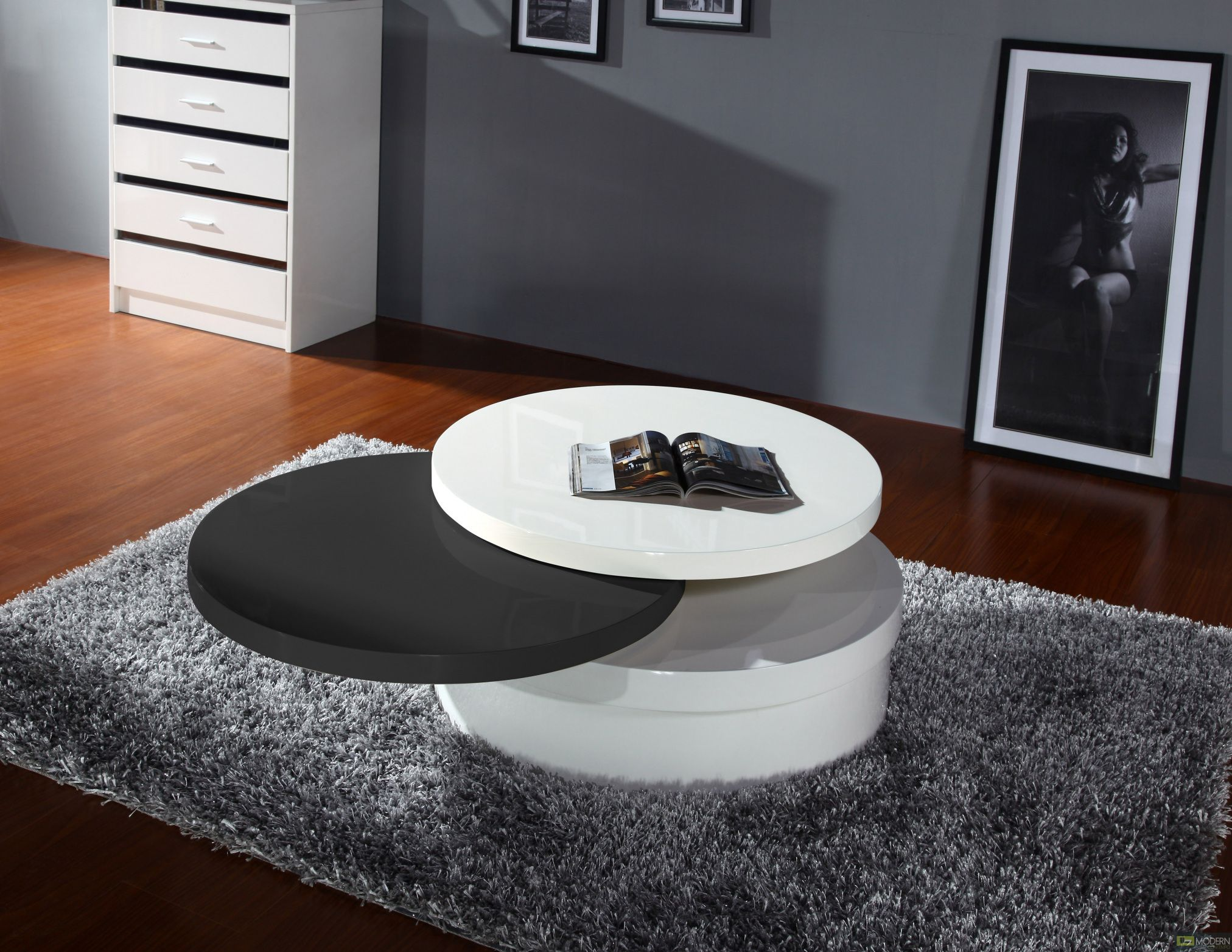 Round Swivel Coffee Table Large Home Office Furniture Check - Round rotating coffee table