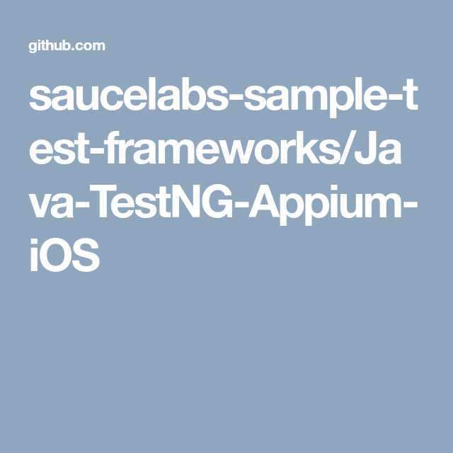 saucelabs-sample-test-frameworks/Java-TestNG-Appium-iOS