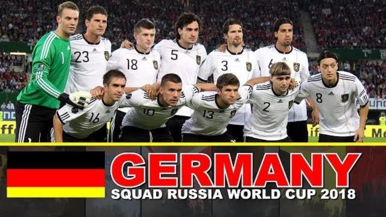 Germany Football Squad 2018 Fifa World Cup Russia Germany Football Football Squads World Cup