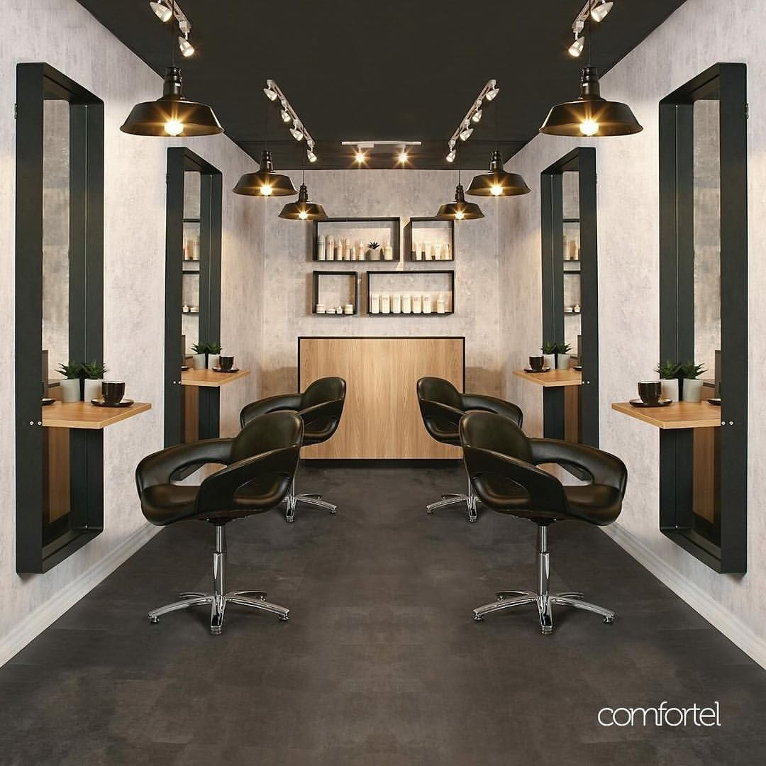 Tuscany A Salon Mirror Pairing Raw Minimalism With Modern Curves For A Raw Urban Look Upgrad Salon Furniture Salon Interior Design Hair Salon Interior