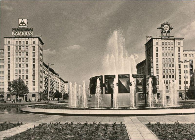 Ansichtskarte Friedrichshain Berlin Brunnen Am Strausberger Platz