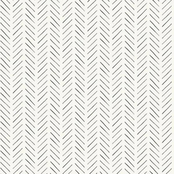 Sticks Lines Wallpaper Black And White Peel And Stick Wallpaper Herringbone Wallpaper Farmhouse Wallpaper