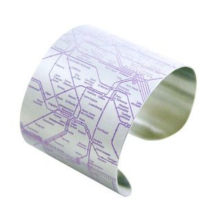 Paris Metro Cuff Violet now featured on Fab.