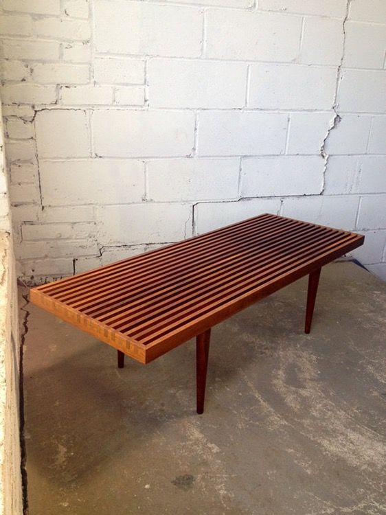Mid Century Danish Modern Dovetailed Slat Bench Mid Century Modern Patio Furniture Modern Patio Furniture Mid Century Modern Furniture