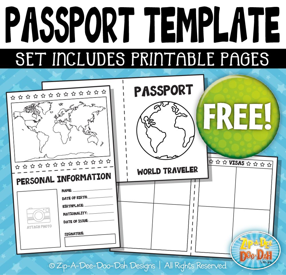 Let S Be Friends Passport Template Passport Invitation Template