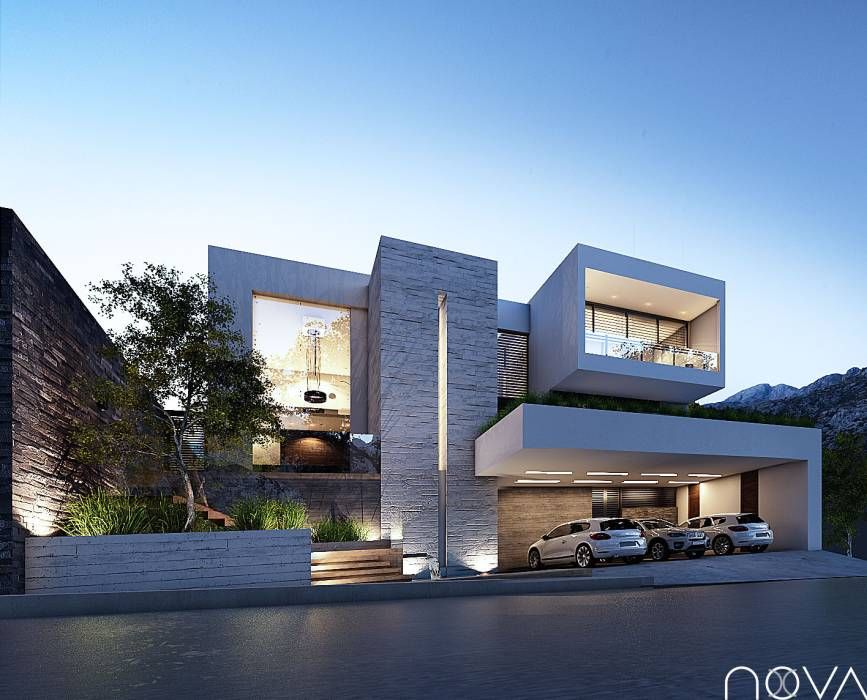 Casas de estilo por homify arquitectura fachadas casas for Fachadas de casas estilo moderno