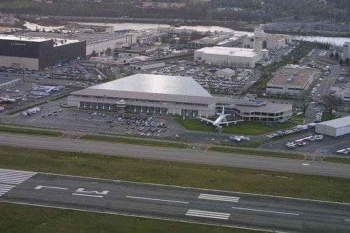 Aerial view of Boeing Field, 2001