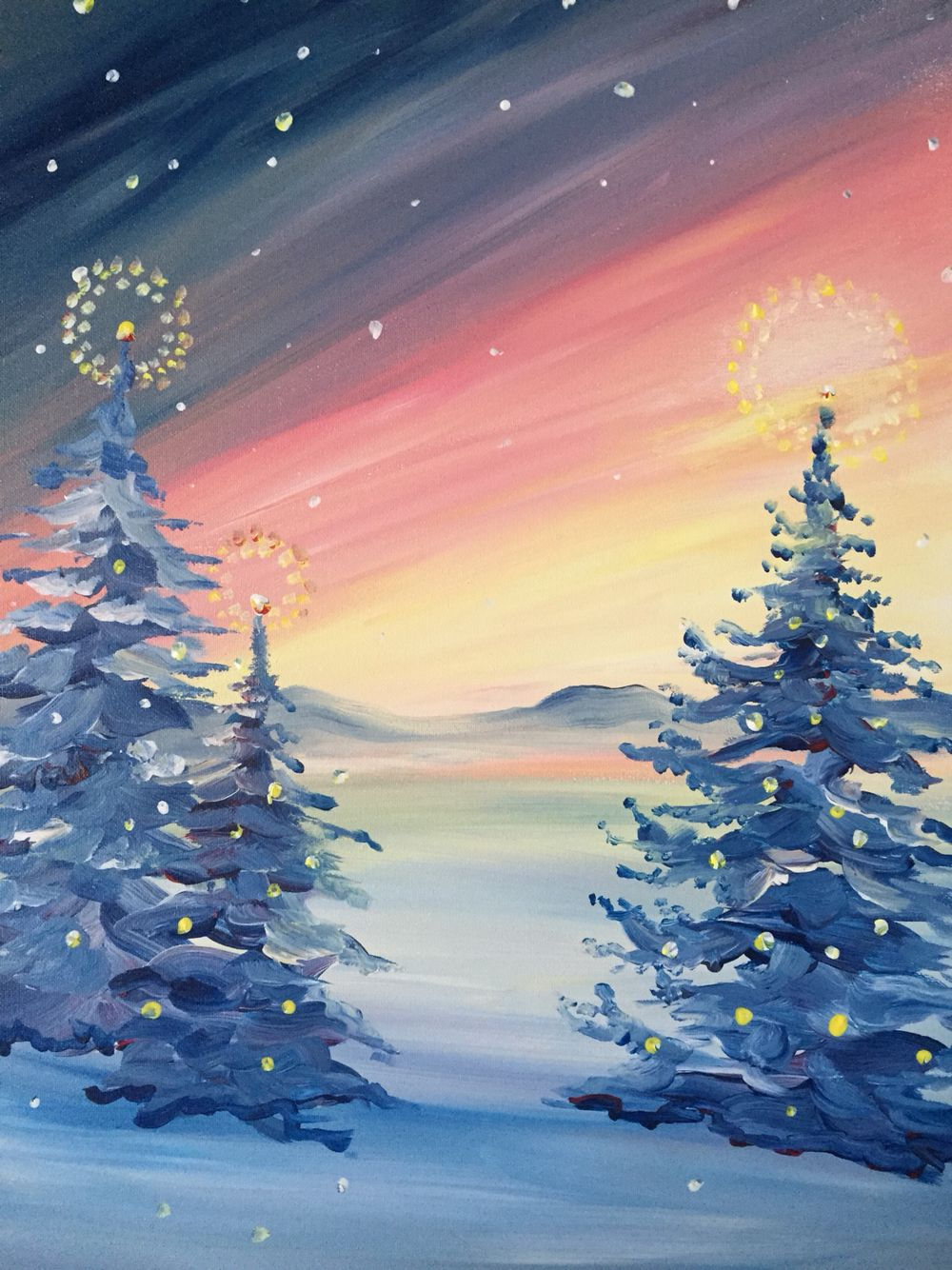 """""""Winter Glow"""" is a seasonal painting you'll enjoy all"""