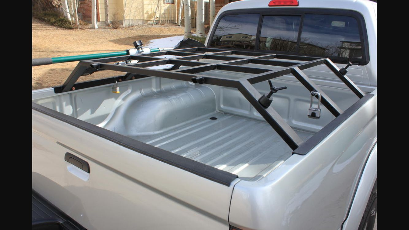 Truck bed rack for roof top tent Truck bed, Truck tent
