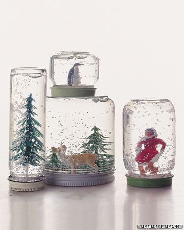 recycled jars at project