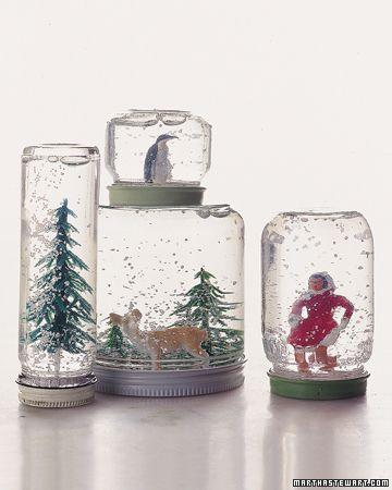 DIY crafts christmas winter snow globes