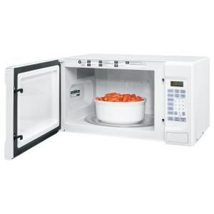 Ge 1 4 Cu Ft 1100 Watt Countertop Microwave Oven In White