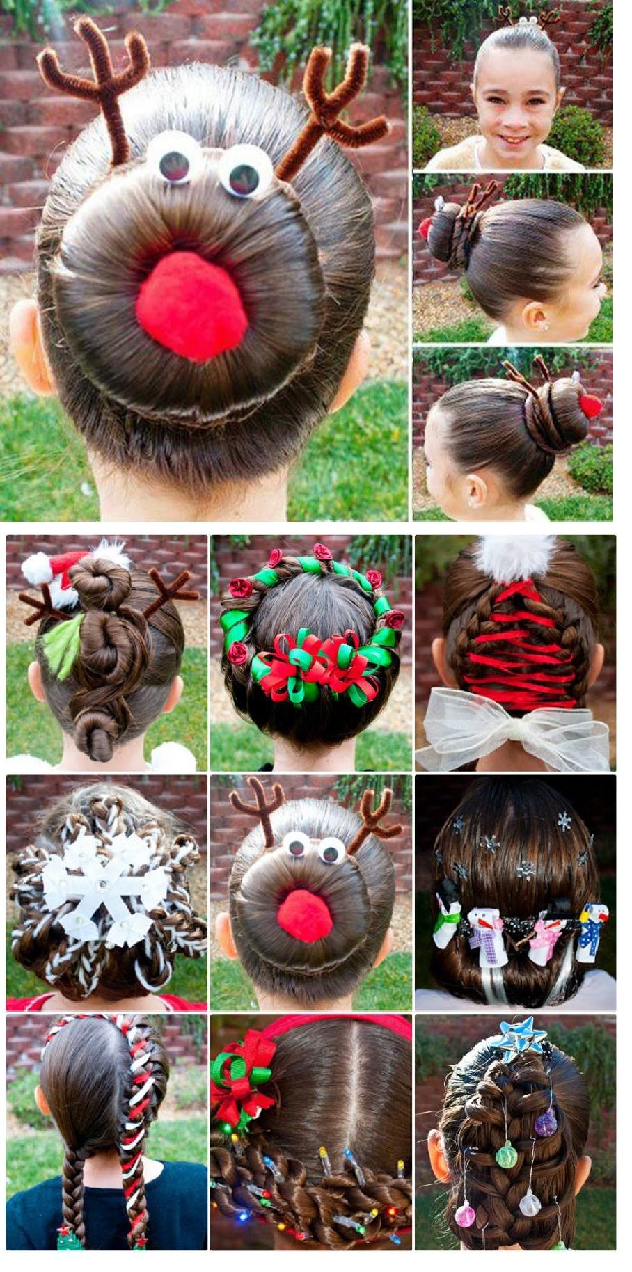 Christmas Hairstyles For Kids.Kids Christmas Hairstyle Hair Inspirations And Tutorials