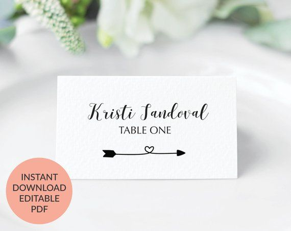 Pin On Wedding Place Cards