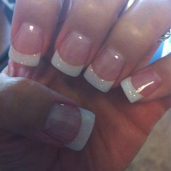 Solar Pink Sparkly White Powder W A Wide Tip Gel Topcoat Great Job Yelp