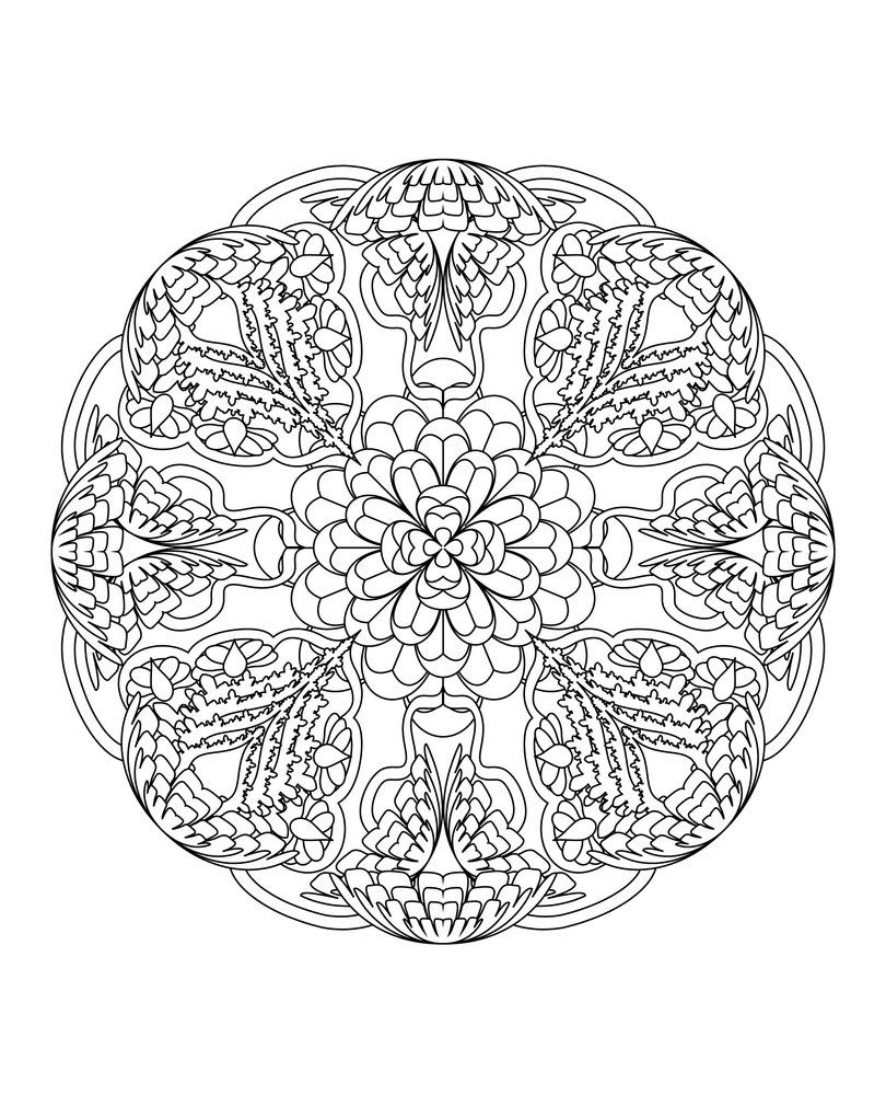sunflower mandala 5 free printable flower mandala coloring page