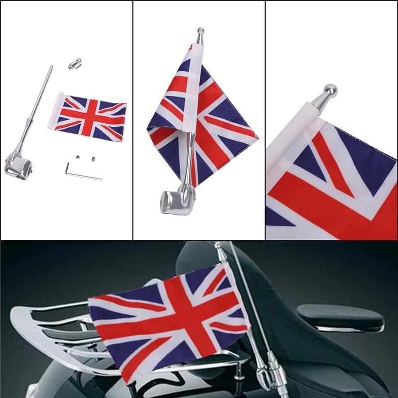 31.12$  Buy now - http://alifpu.shopchina.info/go.php?t=32802706315 - Motorcycle Flag Pole Mount and  England  Flag  For Honda  Yamaha Harley Davidson Mounting Bracket C/5  #SHOPPING
