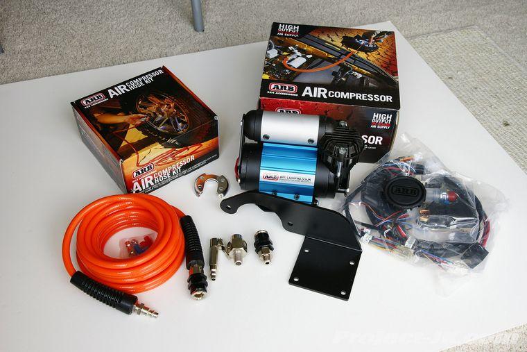 ARB High Output OnBoard Air Compressor Under the Hood JK