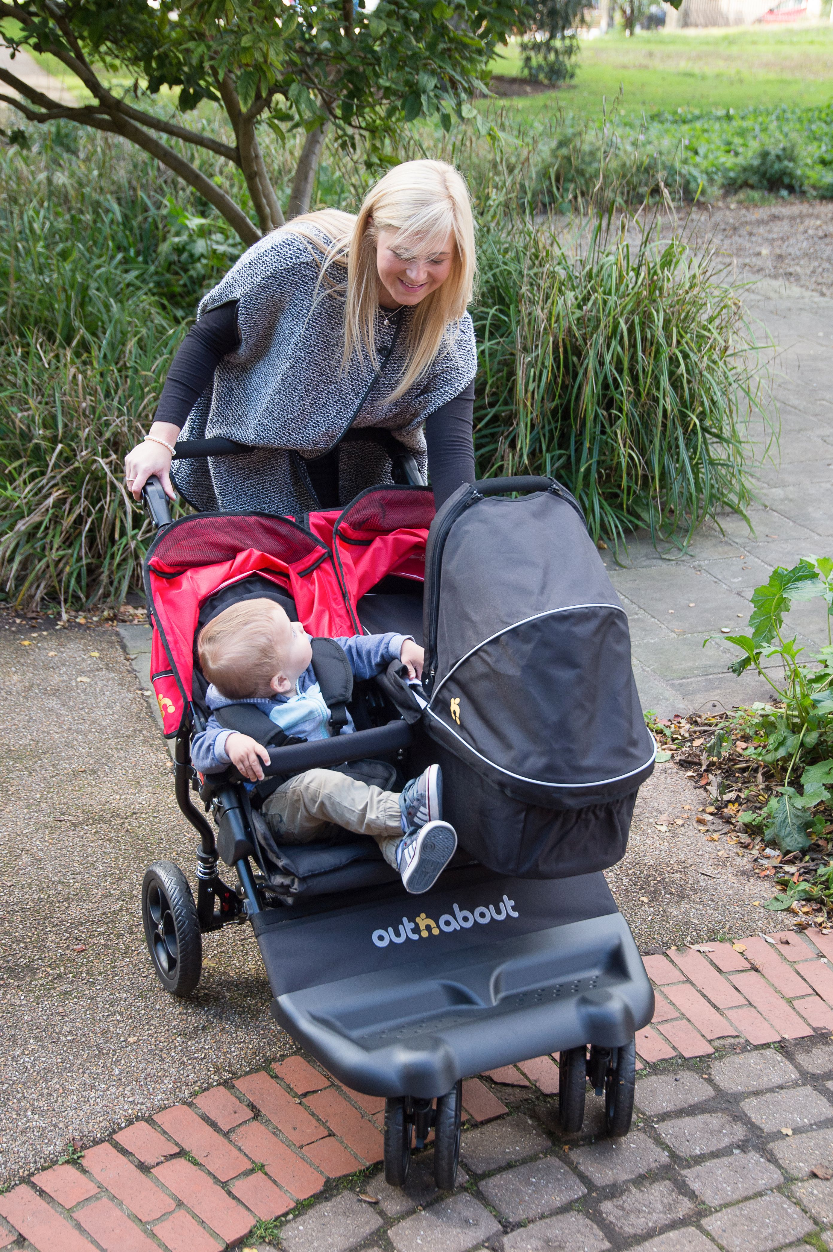 Suitable from newborn with the option of attaching either 1 or 2 carrycots  the Little Nipper Double from  outnaboutuk utnabout can comfortably seat 2  ... 2cf37b2430