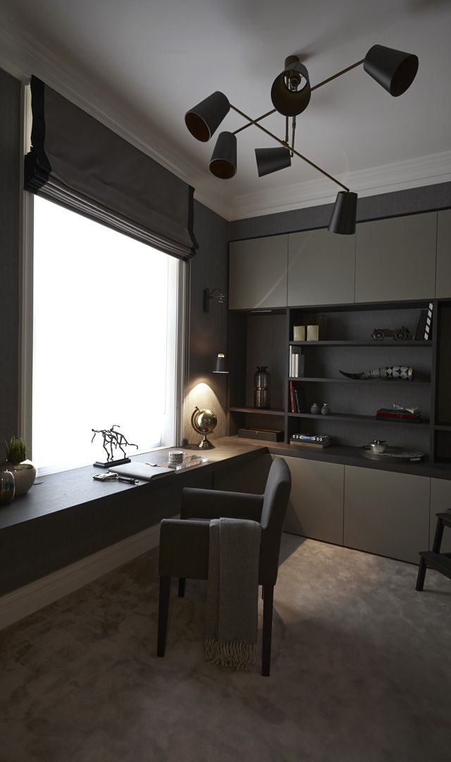 Industrial Study Room: High End Luxury Interior Designers In London
