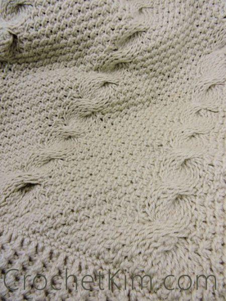 Nautical Waves Throw ~ Kim Guzman - CrochetKim | punto tunecino ...