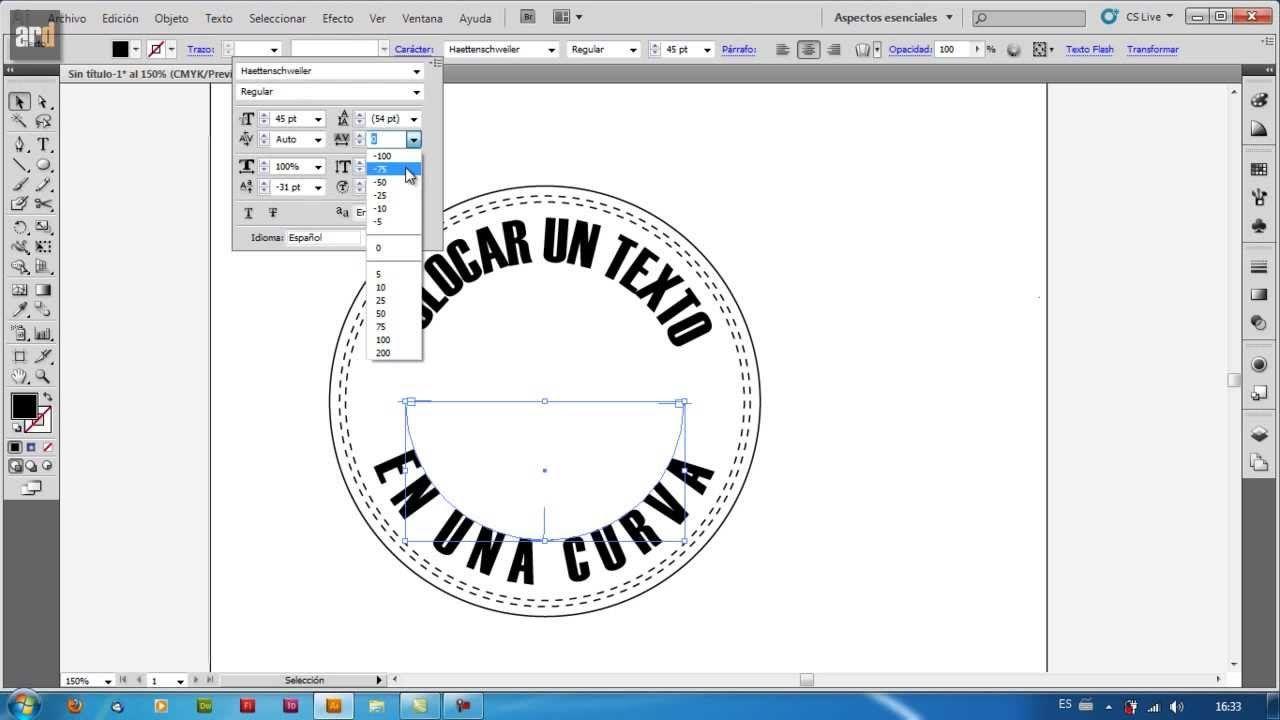Illustrator - Escribir sobre curva | Texto en trazado | Tips