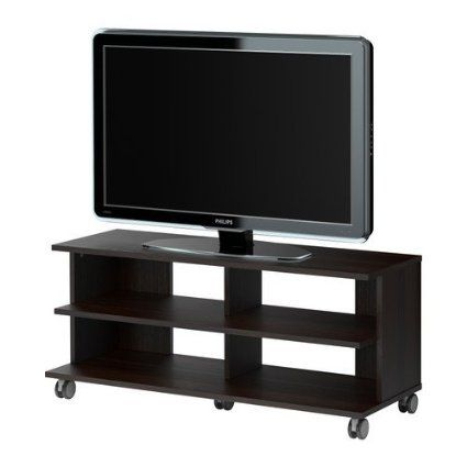 Ikea Benno Tv Unit With Casters Black Brown Tv Unit The Unit Ikea