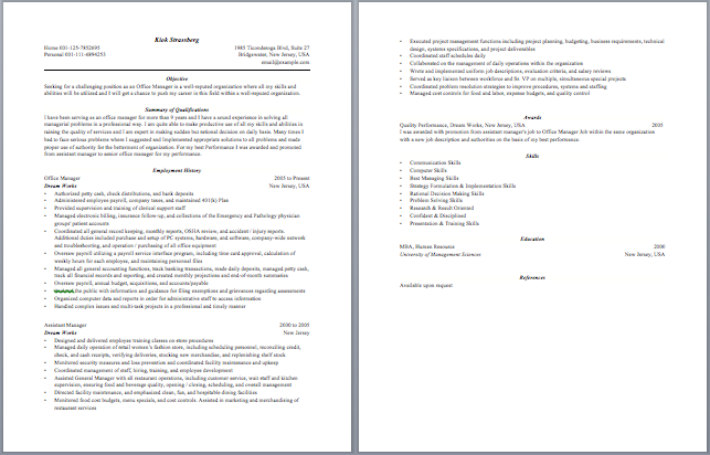 Captivating Office Manager Resume  Front Office Manager Resume