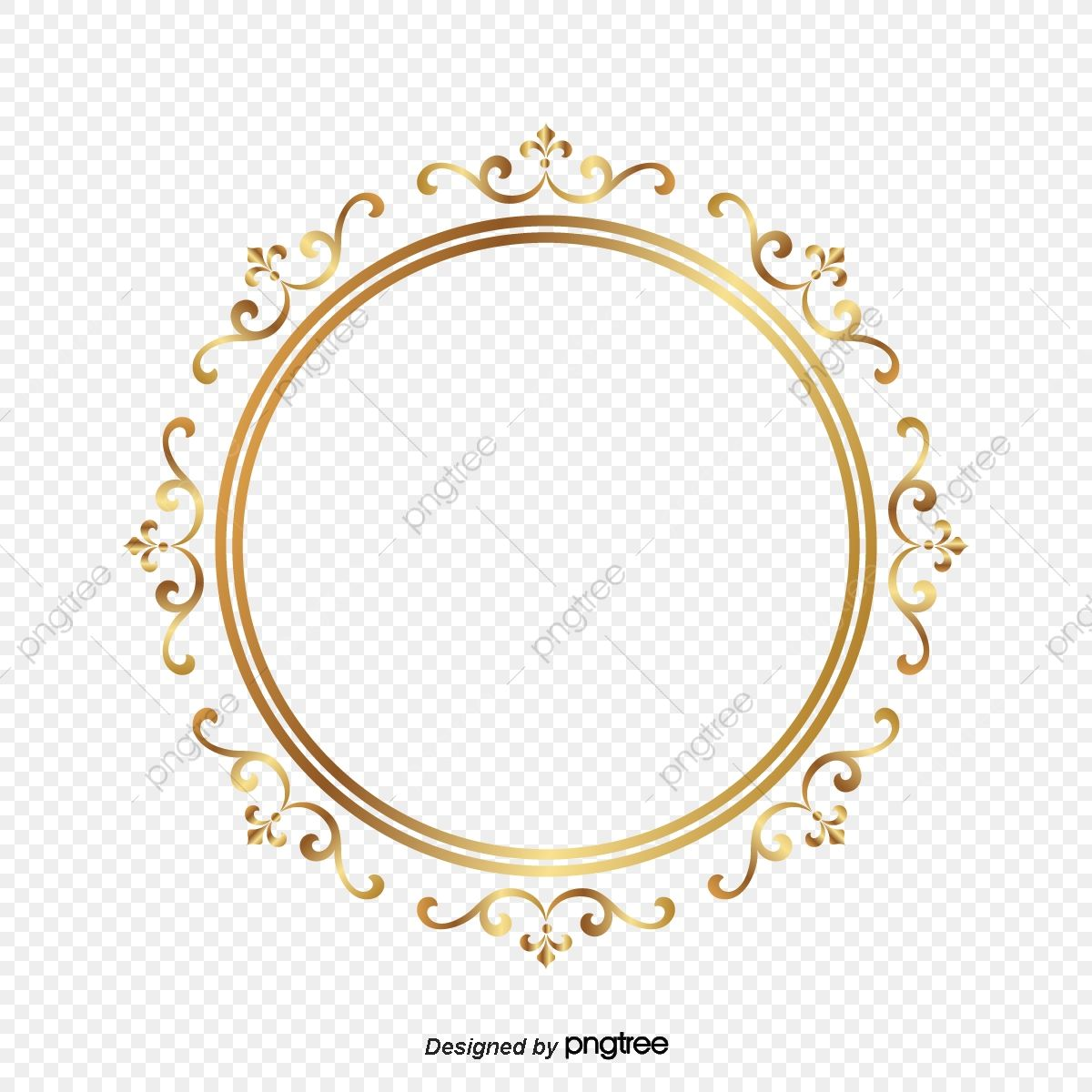 Frame Gold Circle Around A Circle The Circle Frame Around A Circle Gold Png And Vector With Transparent Background For Free Download Gold Circle Frames Circle Frames Gold Frame