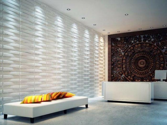 le panneau mural 3d un luxe facile avoir panneau mural 3d parement mural et. Black Bedroom Furniture Sets. Home Design Ideas