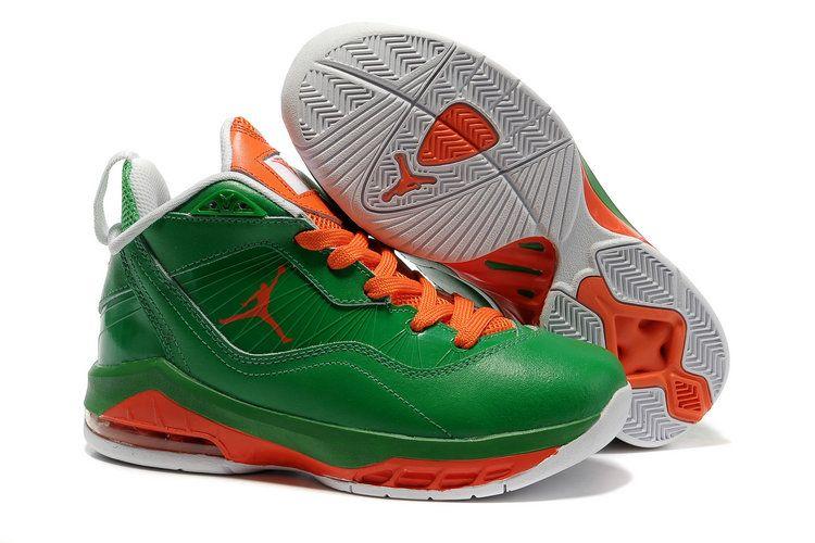 Air jordan shoes · Women Jordan Melo M8 Green Orange Red