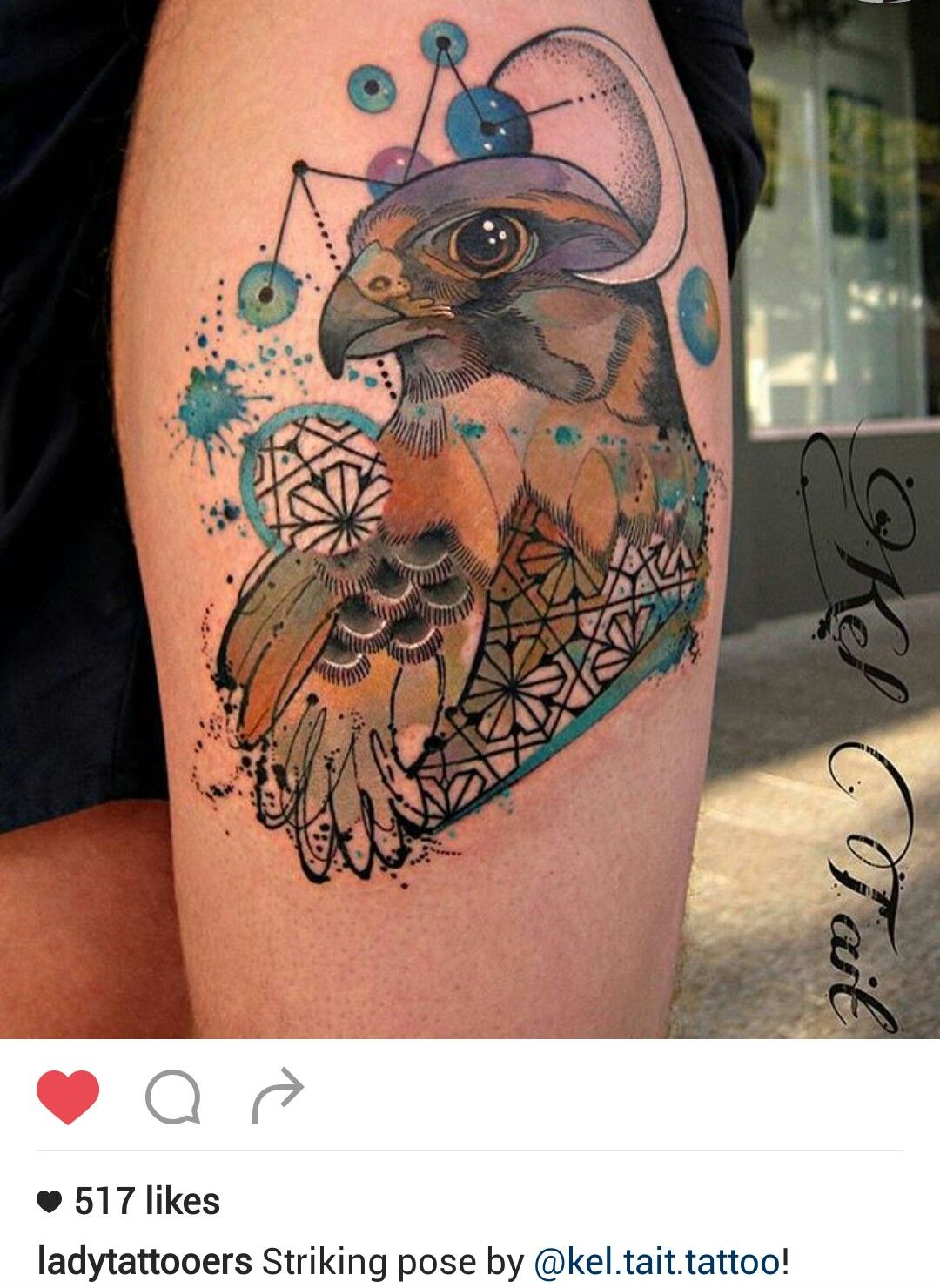 Falcon Tattoo By At Keltaittattoo Watercolor Done Right Most