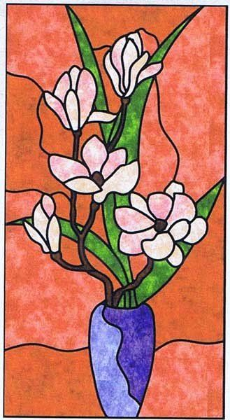 stained glass quilts patterns free | Magnolia Stained Glass Wall ... : magnolia quilt pattern - Adamdwight.com