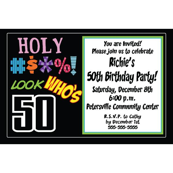 Download Now Free 50th Birthday Party Invitations Templates Free - free birthday party invitation template