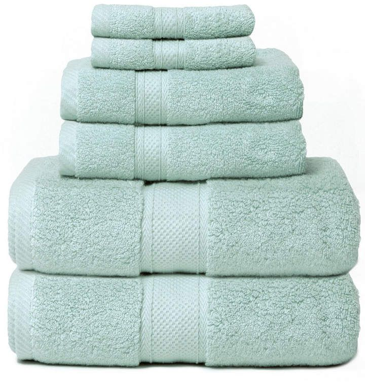 Cobra Hotel Zero Twist 6 Piece 100 Cotton Bath Towel Set