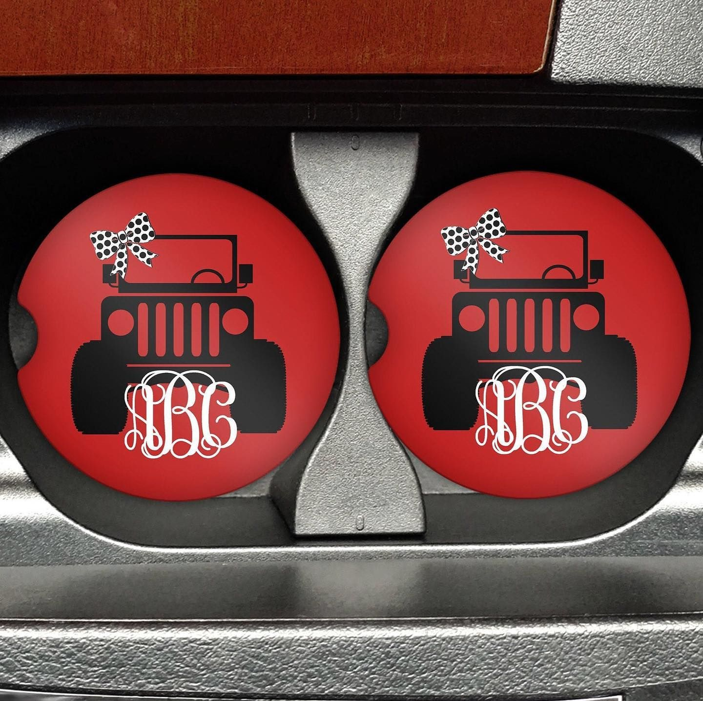 Personalized car coasters. Keep your cup holders dry with ...