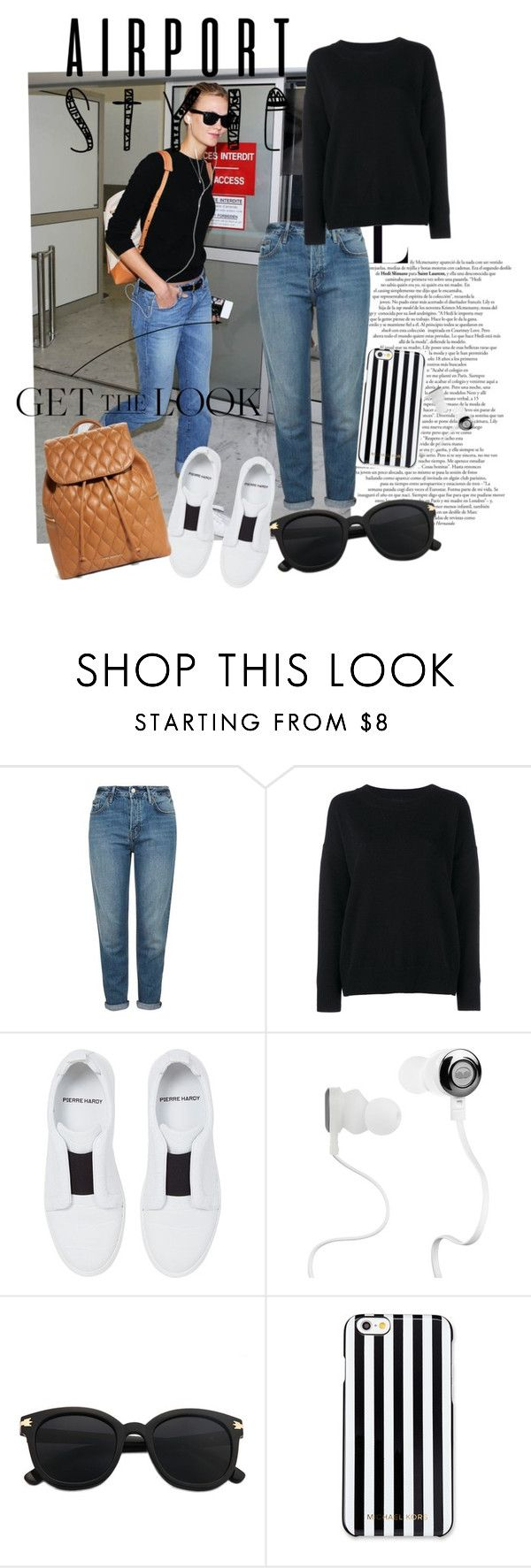 """""""#GTL-Airport Edition"""" by peaches1496 ❤ liked on Polyvore featuring Topshop, Frame Denim, Pierre Hardy, Monster, MICHAEL Michael Kors, Vera Bradley, GetTheLook and airportstyle"""
