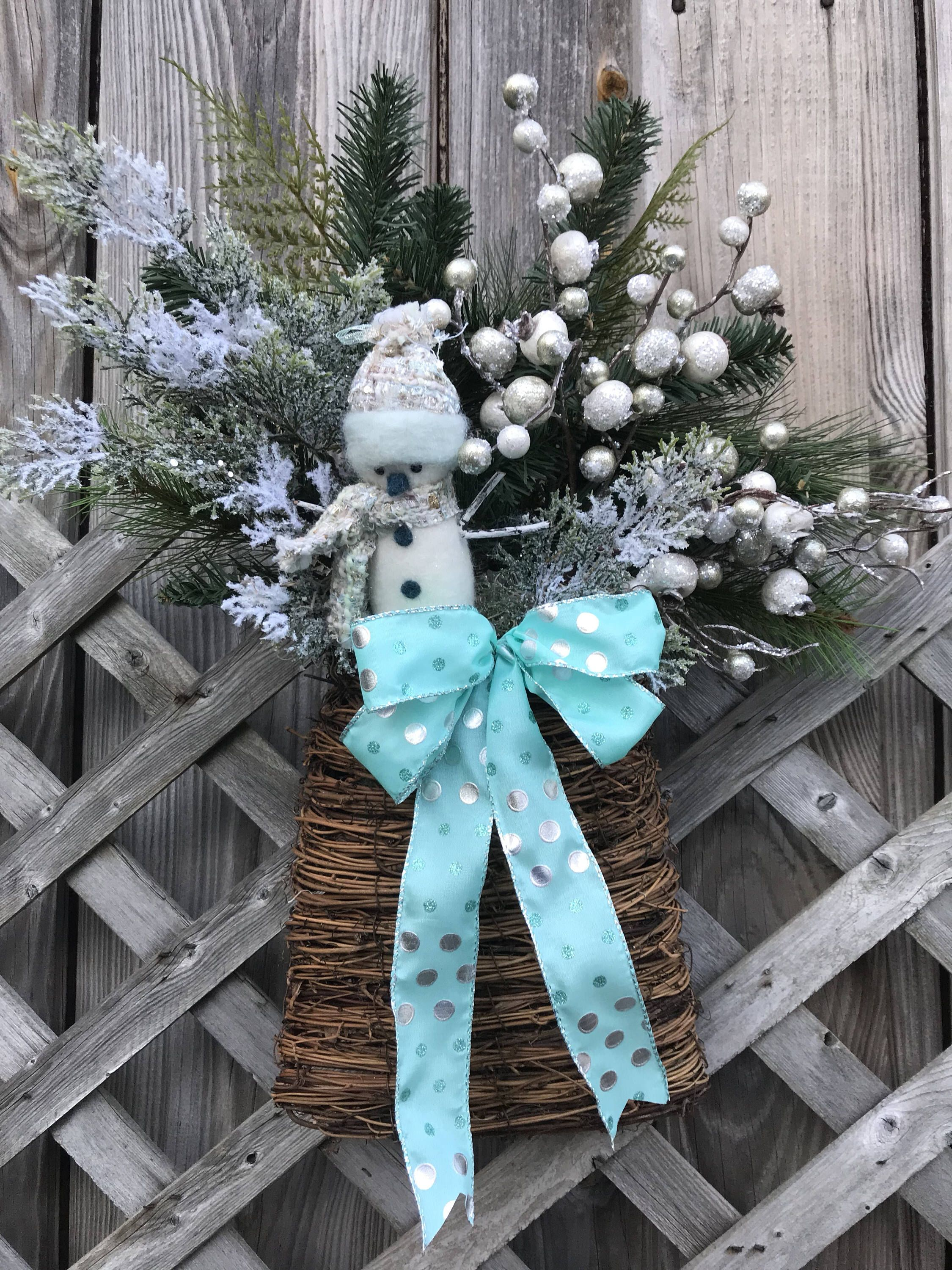 a personal favorite from my etsy shop httpswwwetsycom christmas snowmanchristmas wreathswinter - Christmas Wreaths Etsy