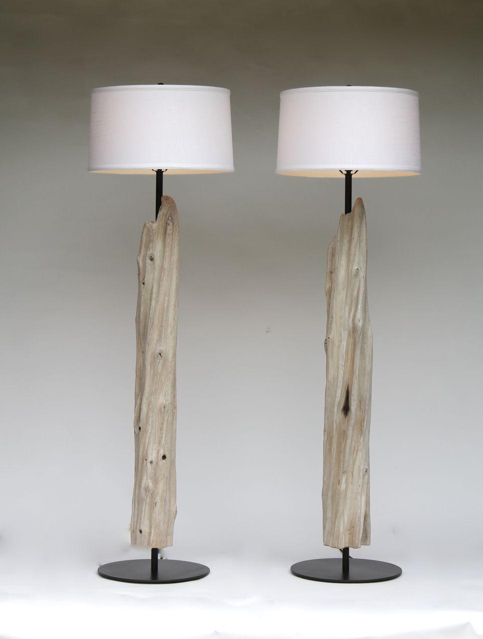 steel lamp driftwood base designsadrift hand michael by with brushed floor custom made