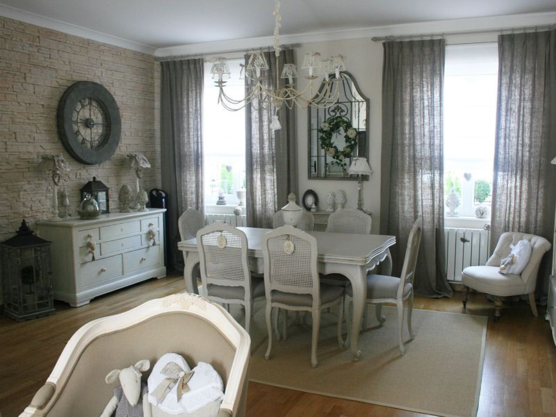 La salle manger l gante shabby salons and chabby chic - Decoration maison de campagne chic ...