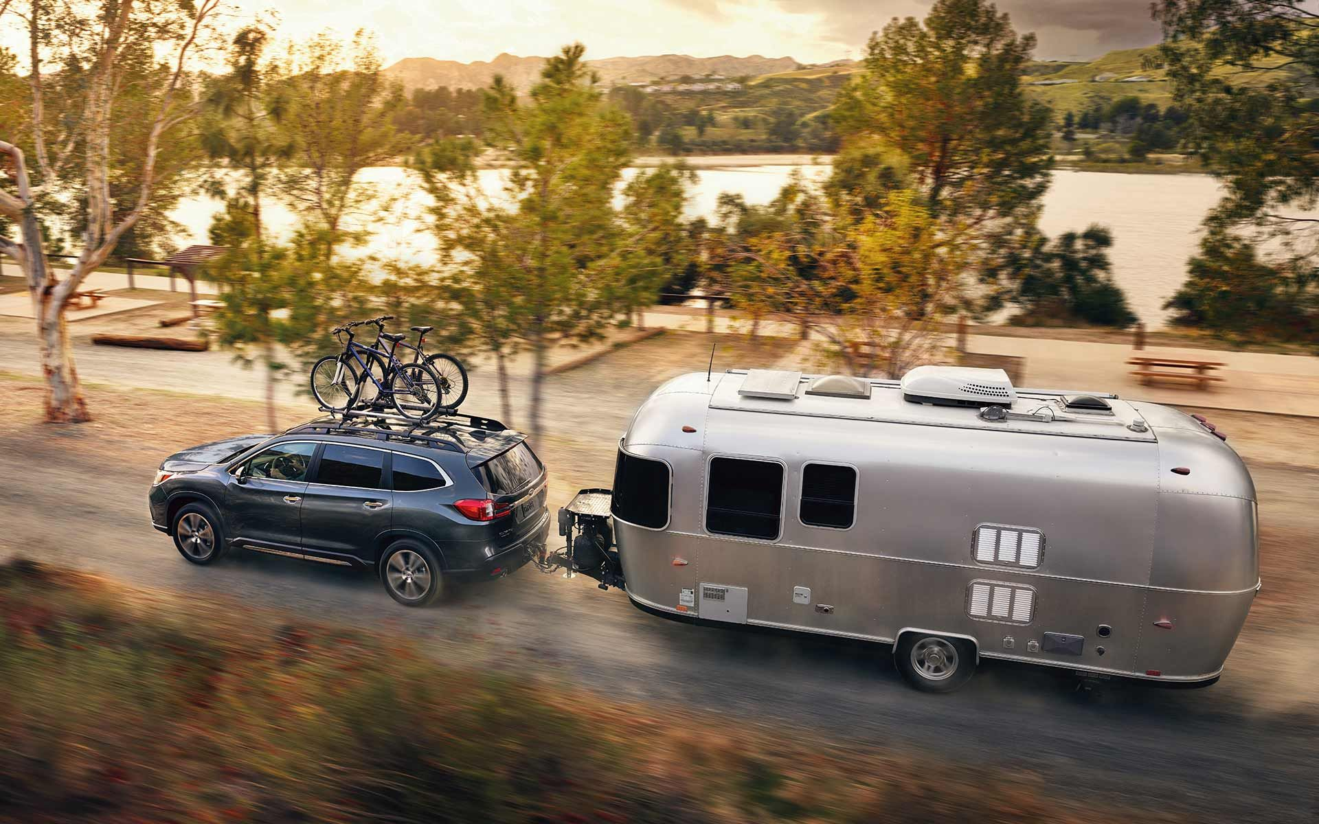 An Ascent Towing A Trailer Recreational Vehicles Subaru Towing